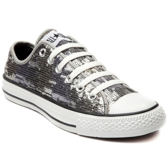 f8cf99e6804e8 NEW Converse gold silver bronze sequin sneakers NWT